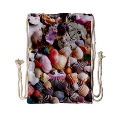 COLORFUL SEA SHELLS Drawstring Bag (Small)