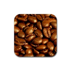 CHOCOLATE COFFEE BEANS Rubber Coaster (Square)