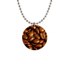 CHOCOLATE COFFEE BEANS Button Necklaces
