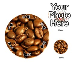 Chocolate Coffee Beans Playing Cards 54 (round)
