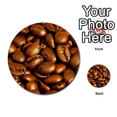 Chocolate Coffee Beans Multi Purpose Cards (round)