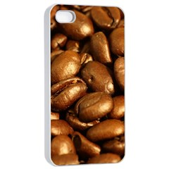 CHOCOLATE COFFEE BEANS Apple iPhone 4/4s Seamless Case (White)