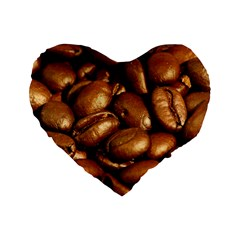 CHOCOLATE COFFEE BEANS Standard 16  Premium Heart Shape Cushions