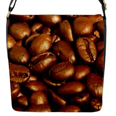 CHOCOLATE COFFEE BEANS Flap Messenger Bag (S)