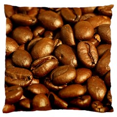 CHOCOLATE COFFEE BEANS Large Flano Cushion Cases (Two Sides)