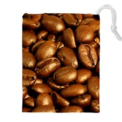 CHOCOLATE COFFEE BEANS Drawstring Pouches (XXL)