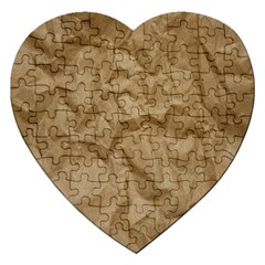 BROWN PAPER Jigsaw Puzzle (Heart)