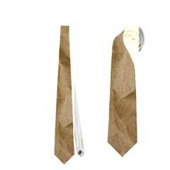 Brown Paper Neckties (one Side)