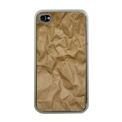 BROWN PAPER Apple iPhone 4 Case (Clear)