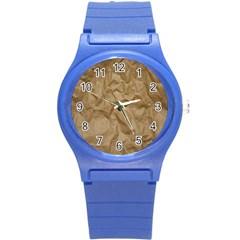 BROWN PAPER Round Plastic Sport Watch (S)