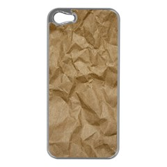 BROWN PAPER Apple iPhone 5 Case (Silver)