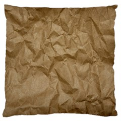 BROWN PAPER Large Flano Cushion Cases (One Side)