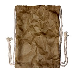 BROWN PAPER Drawstring Bag (Large)