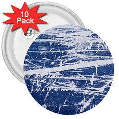 BLUE AND WHITE ART 3  Buttons (10 pack)