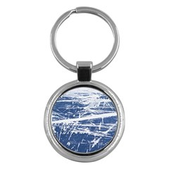 BLUE AND WHITE ART Key Chains (Round)