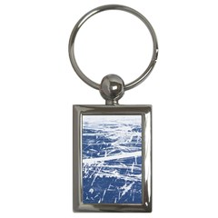 BLUE AND WHITE ART Key Chains (Rectangle)