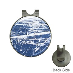 BLUE AND WHITE ART Hat Clips with Golf Markers