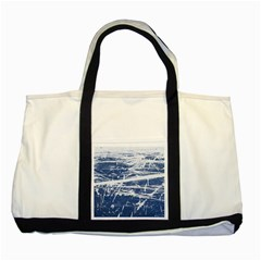BLUE AND WHITE ART Two Tone Tote Bag