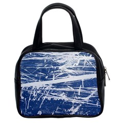 BLUE AND WHITE ART Classic Handbags (2 Sides)