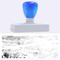 BLUE AND WHITE ART Rubber Address Stamps (XL)