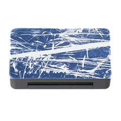 BLUE AND WHITE ART Memory Card Reader with CF
