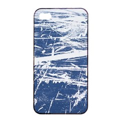 BLUE AND WHITE ART Apple iPhone 4/4s Seamless Case (Black)