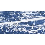 BLUE AND WHITE ART YOU ARE INVITED 3D Greeting Card (8x4)  Back