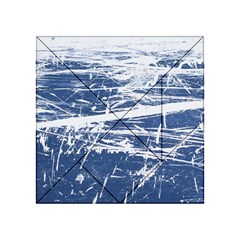 BLUE AND WHITE ART Acrylic Tangram Puzzle (4  x 4 )