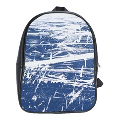 BLUE AND WHITE ART School Bags (XL)