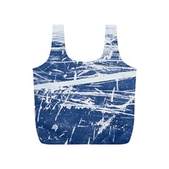 BLUE AND WHITE ART Full Print Recycle Bags (S)