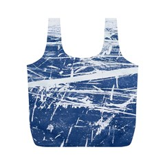 BLUE AND WHITE ART Full Print Recycle Bags (M)