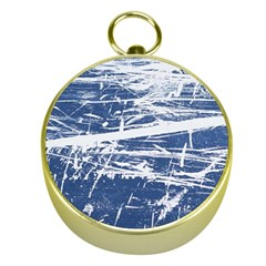 BLUE AND WHITE ART Gold Compasses