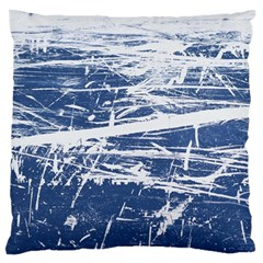 BLUE AND WHITE ART Large Flano Cushion Cases (Two Sides)