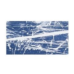 BLUE AND WHITE ART Satin Wrap