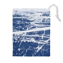 BLUE AND WHITE ART Drawstring Pouches (Extra Large)
