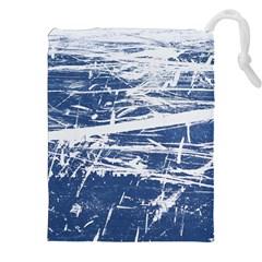 Blue And White Art Drawstring Pouches (xxl)