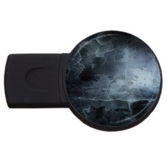 Black Splatter Usb Flash Drive Round (2 Gb)