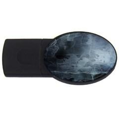 BLACK SPLATTER USB Flash Drive Oval (4 GB)