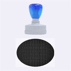 Black Honeycomb Rubber Oval Stamps