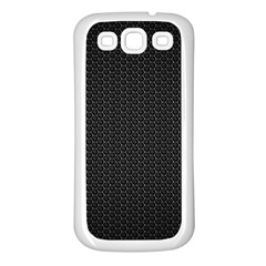 BLACK HONEYCOMB Samsung Galaxy S3 Back Case (White)