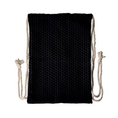 BLACK HONEYCOMB Drawstring Bag (Small)