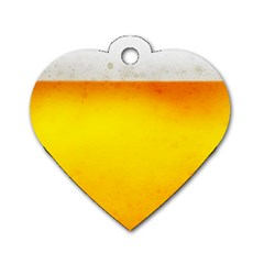 BEER Dog Tag Heart (Two Sides)