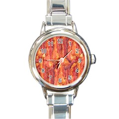 BACON Round Italian Charm Watches