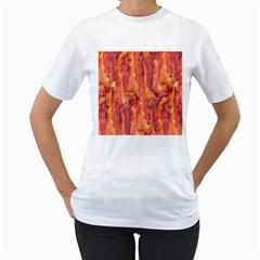 BACON Women s T-Shirt (White)
