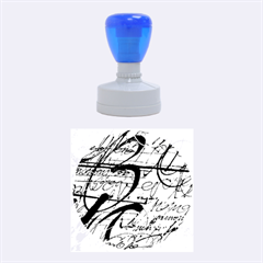 Abstract 2 Rubber Round Stamps (medium)