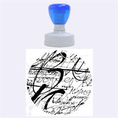 Abstract 2 Rubber Round Stamps (large)