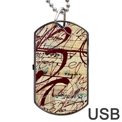 Abstract 2 Dog Tag Usb Flash (two Sides)