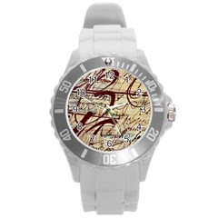 ABSTRACT 2 Round Plastic Sport Watch (L)