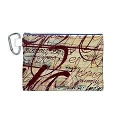 ABSTRACT 2 Canvas Cosmetic Bag (M)