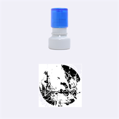 Abstract 1 Rubber Round Stamps (small)